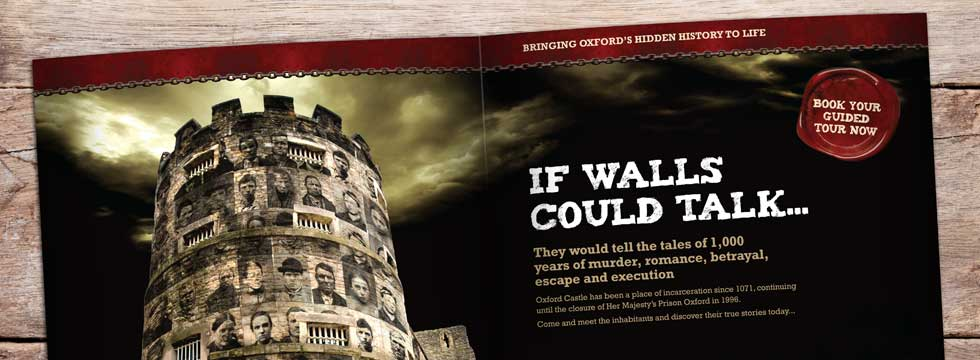 Oxford Castle's 'If Walls Could Talk' campaign hits tourist information stands